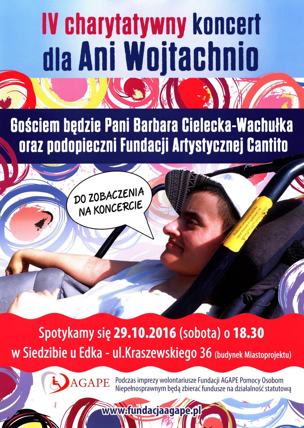 Plakat zapraszający na koncert